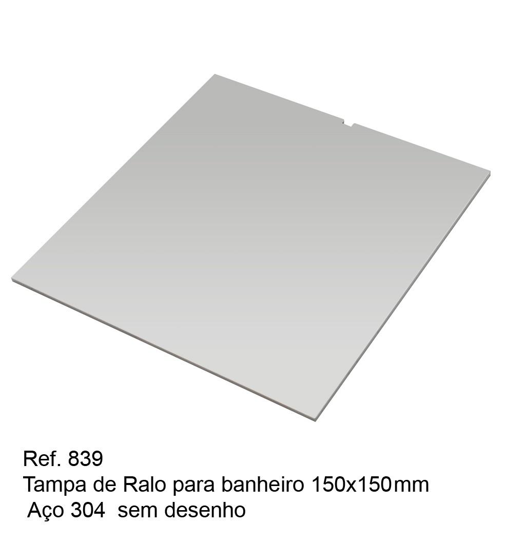 Tampa De Ralo Sem Desenho 150 X 150 Mm 2 5 Mm 304 Stamp Inox